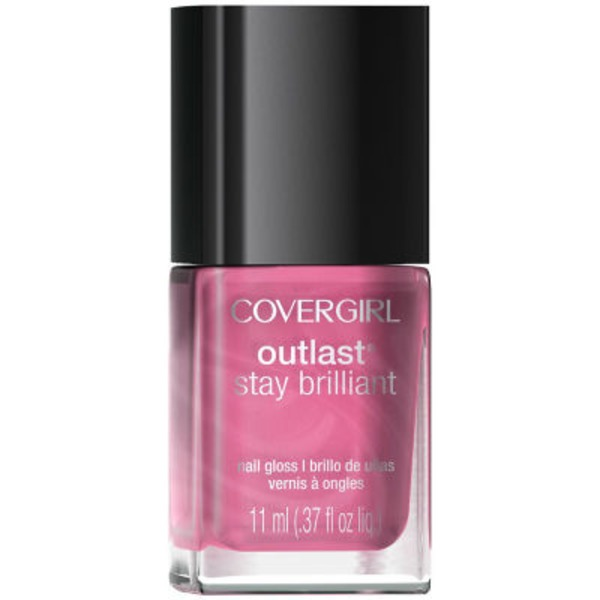 CoverGirl Outlast Stay Brilliant COVERGIRL Outlast Stay Brilliant Nail Gloss, Petal Power .37 fl oz (11 ml) Female Cosmetics