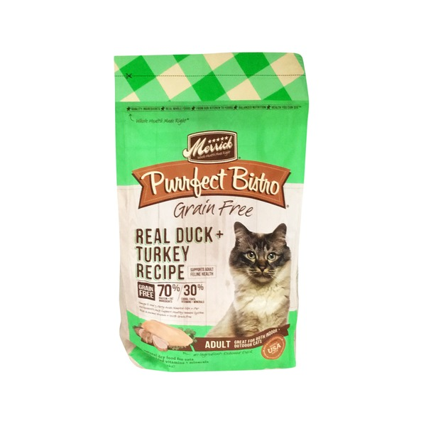 Merrick Purrfect Bistro Grain Free Real Duck + Turkey Adult Cat Food