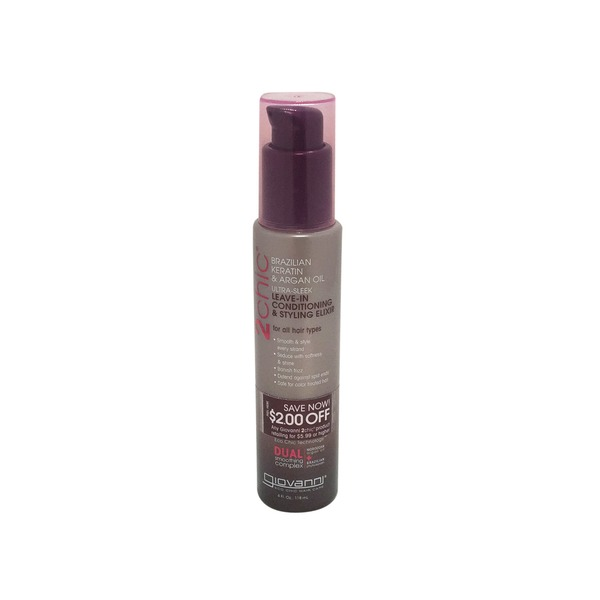 Giovanni Brazilian Keratin & Argan Oil Leave-In Conditioning & Styling Elixir
