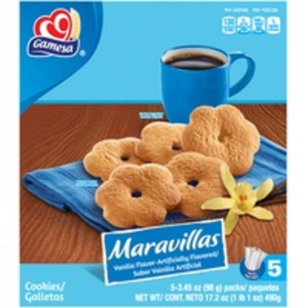 Gamesa Maravillas Vanilla Cookies