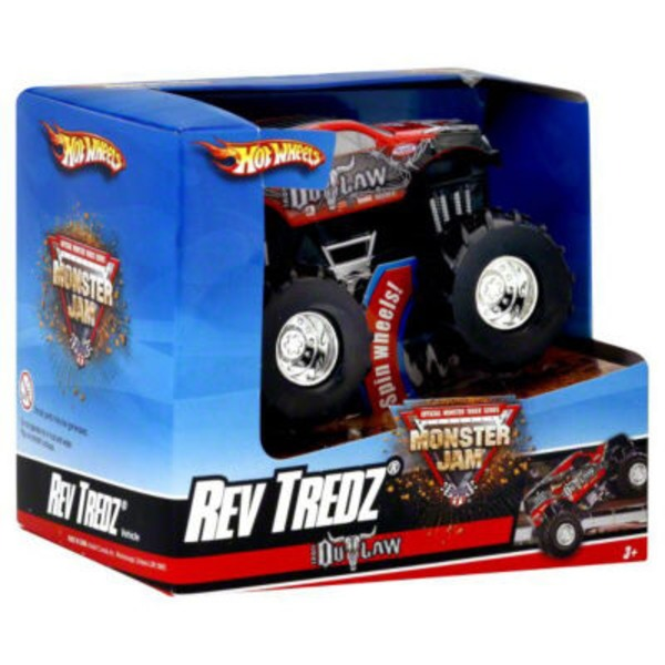 Hot Wheels Monster Jam Iron Outlaw Rev Tredz Vehicle