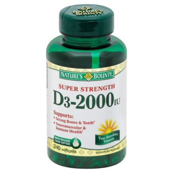 Nature's Bounty Vitamin D3 2000 IU Rapid Release Softgels - 240 CT