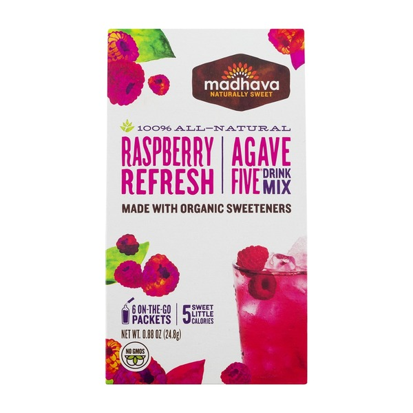 Madhava Agave Five Drink Mix Raspberry Refresh - 6 PK
