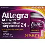Allegra 24 Hour Non-Drowsy Indoor and Outdoor Allergy Relief Tablets 30ct