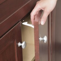 Safety 1ˢᵗ Spring Loaded Cabinet & Drawer Latch (10pk), White