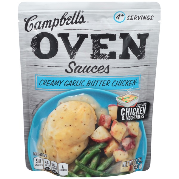 Campbell's Dinner Sauces Creamy Garlic Butter Chicken Oven Sauces