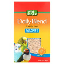 Wild Harvest Daily Blend Nutrient Rich Parakeet, Canary & Finch Food, 2 Lb