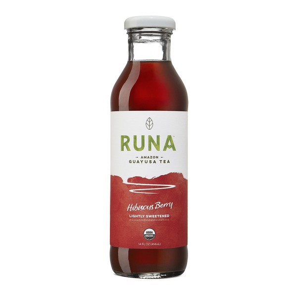 Runa Guayusa Lightly Sweetened Tea Hibiscus Berry