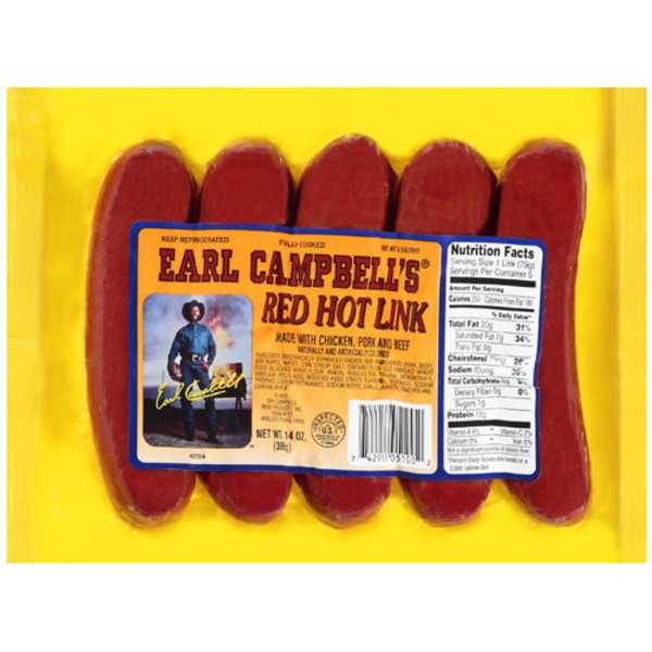 Earl Campbell's Chicken, Pork & Beef Red Hot Link