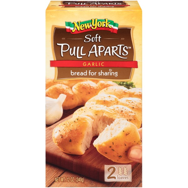New York Style Soft Pull Aparts Garlic Bread