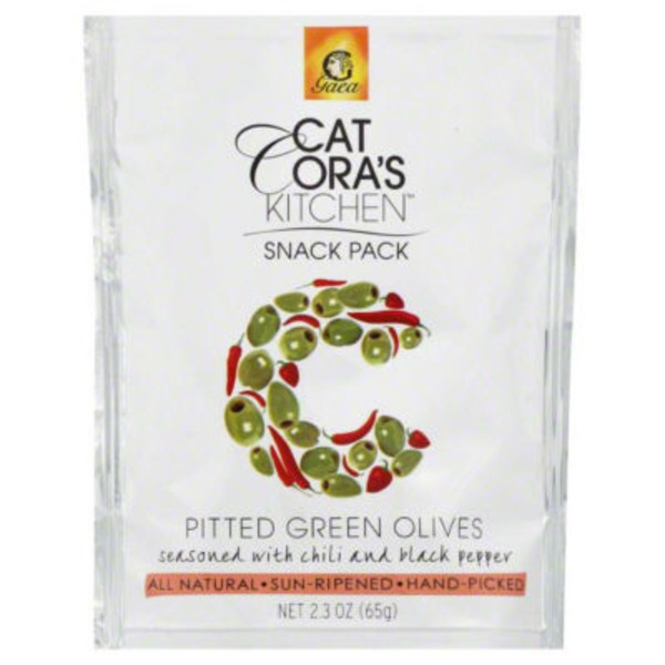 Cat Cora Kitchen Snack Pack Olives Pitted Green