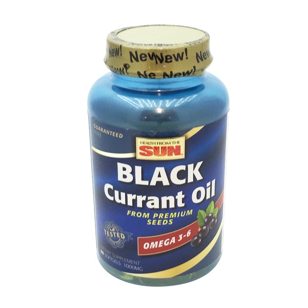 Health From The Sun Black Currant Oil Omega 3-6