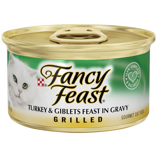 Fancy Feast Wet Grilled Turkey & Giblets Feast in Gravy Cat Food