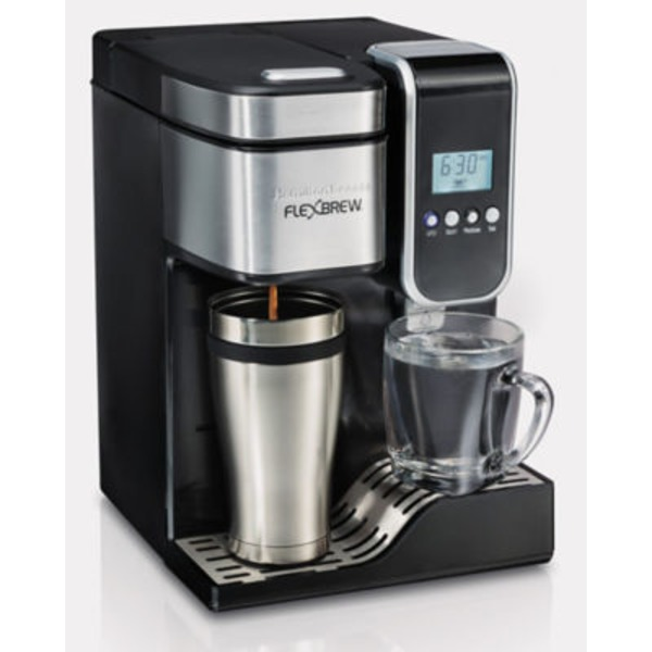 Hamilton Beach Flex Brew Single Serve Coffee Maker With Hot Water Dispenser