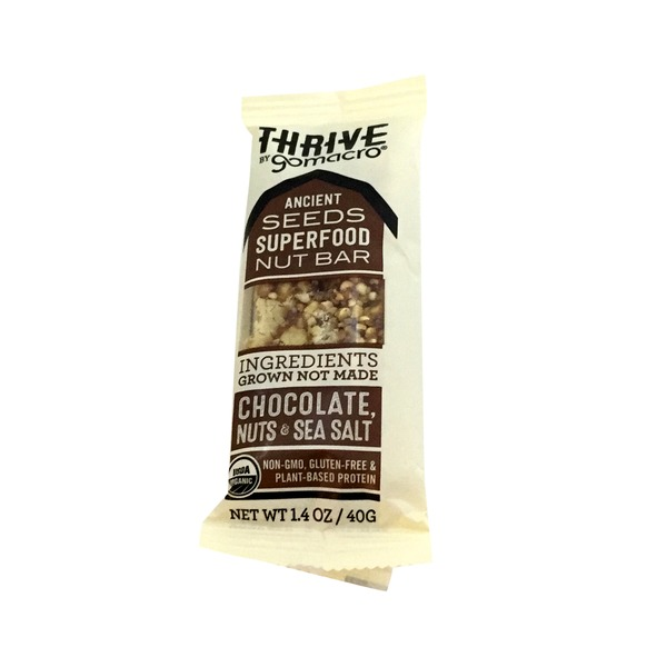 GoMacro Organic Sea Salt Chocolate Nuts Thrive Bar