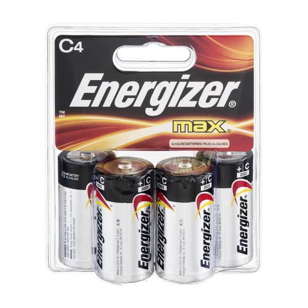 Energizer Max + PowerSeal C Alkaline Batteries - 4 CT