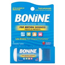 Bonine Raspberry Flavored Chewable Tablets, 12 count