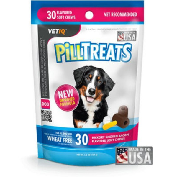 Vet IQ Hickory Smoked Bacon Pill Treats