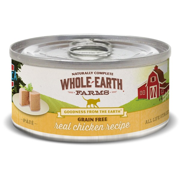 Whole Earth Farms Grain Free Real Chicken Canned Cat Food Case Of 24 5 Oz.