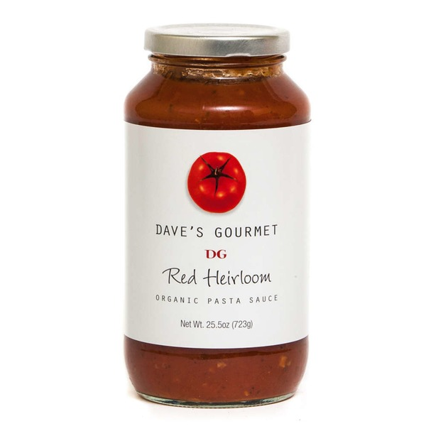 Dave's Gourmet Organic Pasta Sauce Red Heirloom
