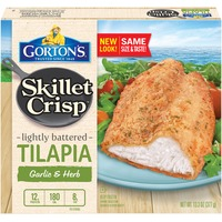 Gorton's Skillet Crisp Garlic & Herb Lightly Battered Tilapia