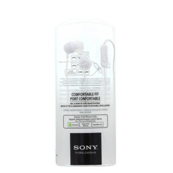 Sony Fashion White Earbuds