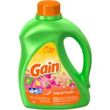 Gain Liquid Laundry Detergent, Island Fresh Scent, 64 loads, 100 oz