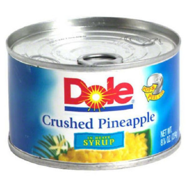 Dole Crushed In Heavy Syrup Pineapple