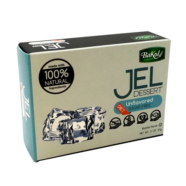 Bakol Natural Foods Unflavored Sugar Free Jel Dessert