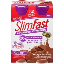 SlimFast Advanced Nutrition Meal Replacement Shake, Creamy Chocolate, 11 Fl oz, 4 Ct