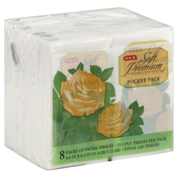 H-E-B Soft Premium Facial Tissue Pocket Packs