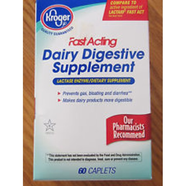 Kroger Fast Acting Dairy Digestive Supplement Caplets