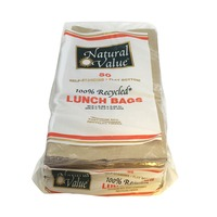Natural Value 100% Recycled Brown Lunch Bags