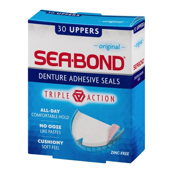 Sea Bond Sea-Bond Original Uppers Denture Adhesive Wafers - 30 PK