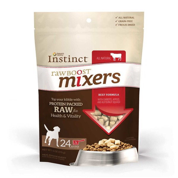 Nature's Variety Instinct Raw Boost Beef Dog Food Mixers 6 Oz.