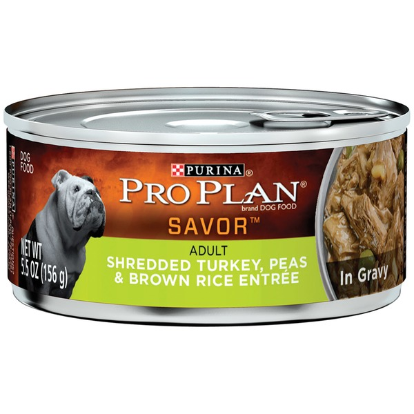 Pro Plan Dog Wet Savor Adult Shredded Turkey Peas & Brown Rice Entree in Gravy Dog Food