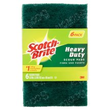 Scotch-Brite Heavy Duty Scour Pads, 6 count