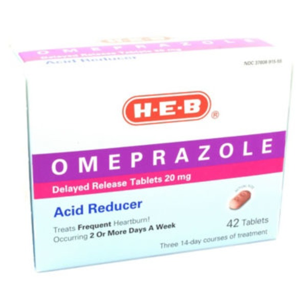 H-E-B Omeprazole Acid Reducer Tablets
