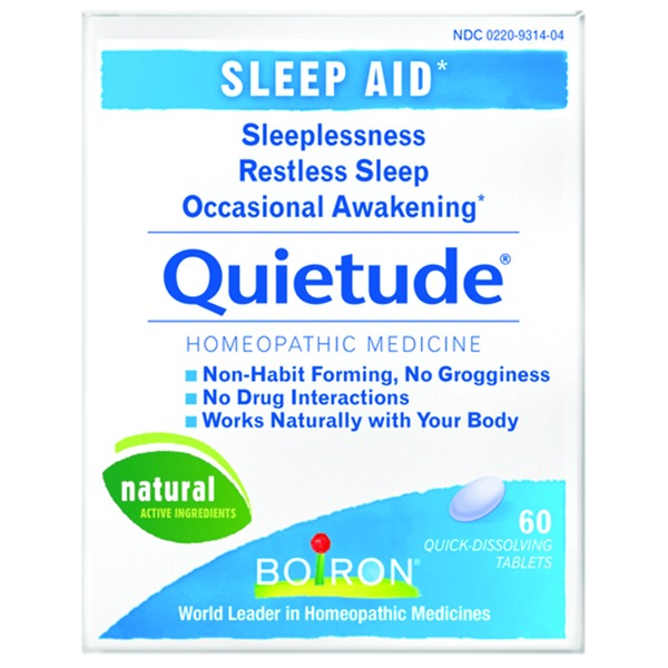 Boiron Quietude Sleep Aid Homeopathic Medicine Quick-Dissolving Tablets - 60 CT