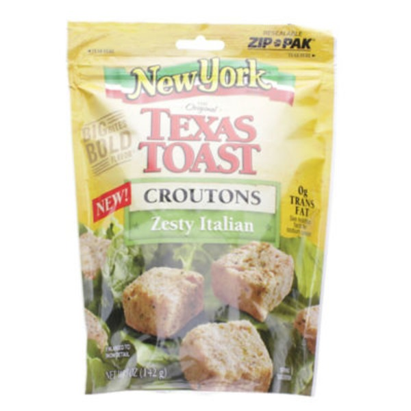 New York Style Bakery Texas Toast Zesty Italian Croutons