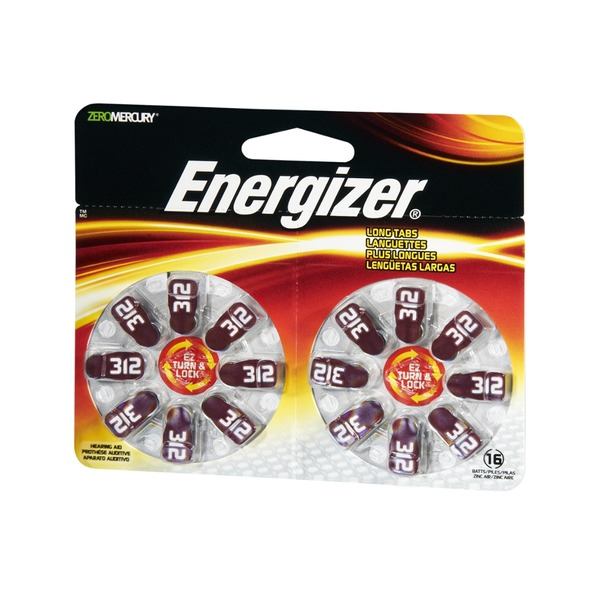 Energizer EZ Lock & Turn AZ312DP-16 Batteries