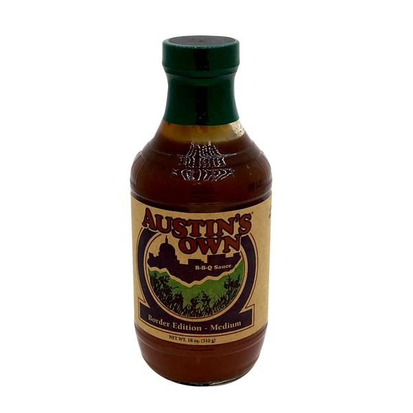 Austins Own BBQ Sauce, Border Edition - Medium