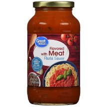 Great Value Meat Flavored Pasta Sauce, 24 oz