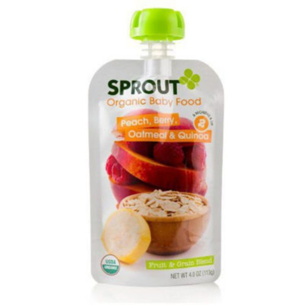 Sprouts Organic Baby Food Peach, Berry, Oatmeal & Quinoa