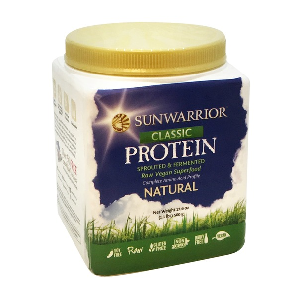 Sunwarrior Natural Flavor Raw Vegan Protein