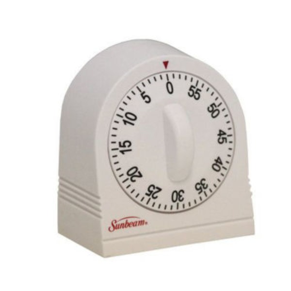 Sunbeam 60 Minute White Ring Timer
