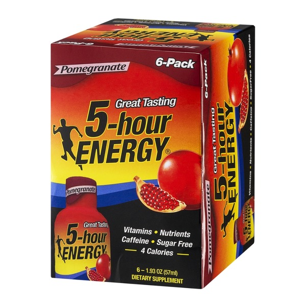 5-Hour Energy Dietary Energy Drinks Pomegranate - 6 PK