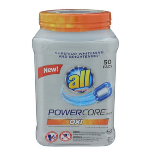 All POWERCORE OXI Pacs Super Concentrated Laundry Detergent