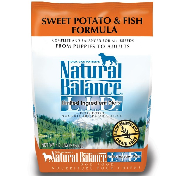 Natural Balance Sweet Potato & Fish Formula Limited Ingredients Diet Dog Food