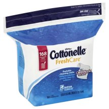 Cottonelle Flushable Moist Wipes, Fresh Care, 168 Count